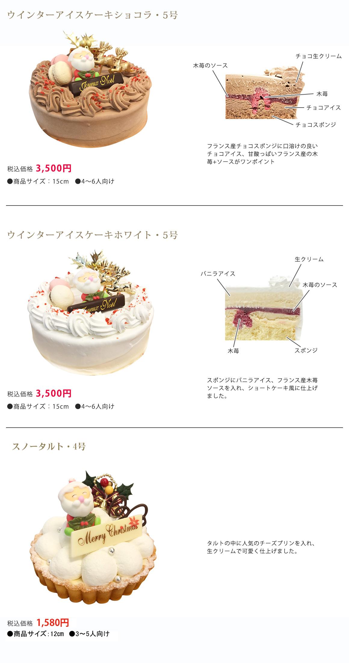 琉球プディングクリスマスアイスケーキ